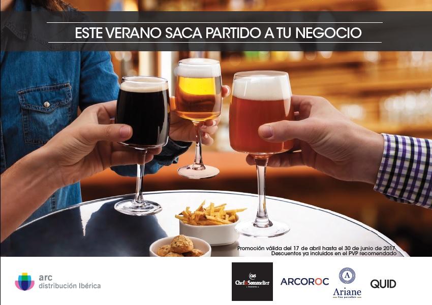 promoción,arc,verano,2017,menaje,galicia,copas,vasos,platos,cubiertos