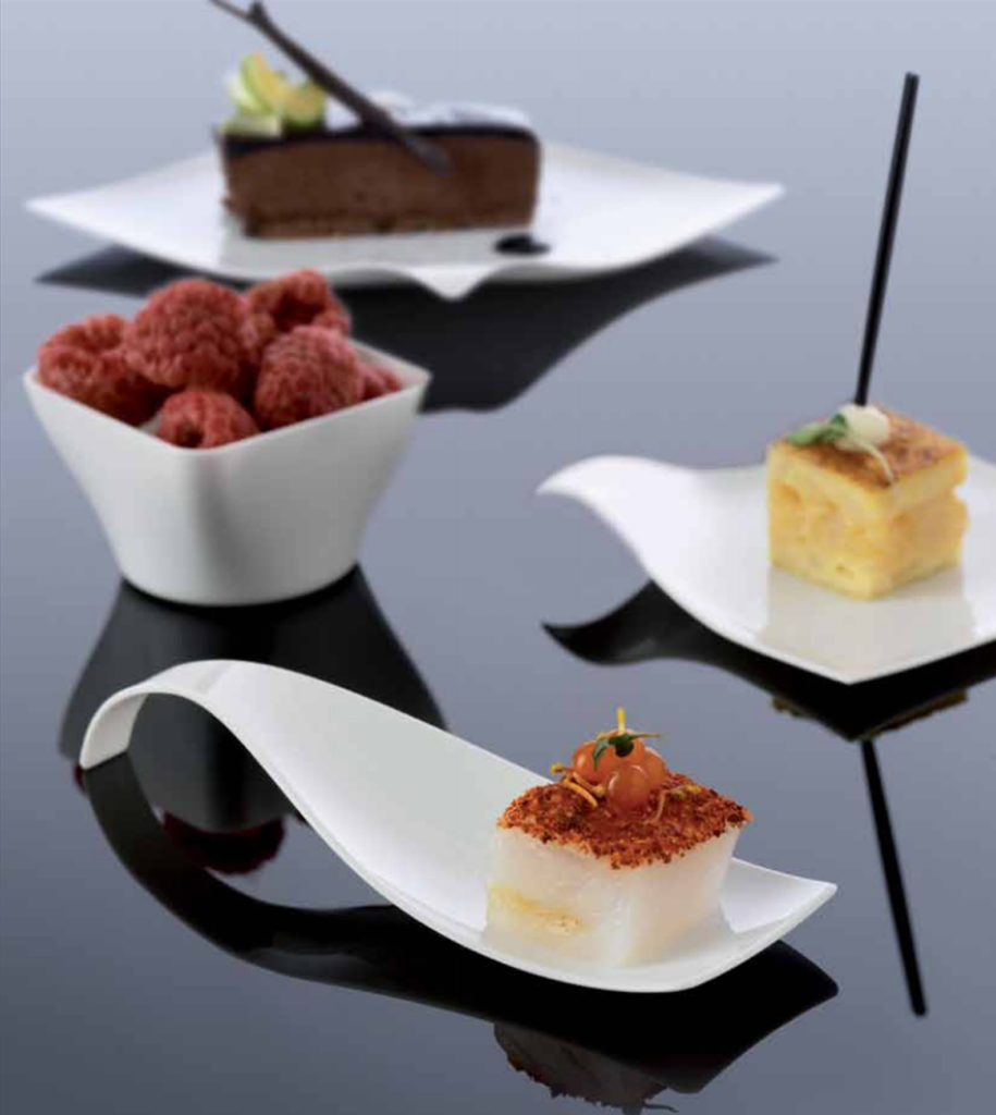 menaje galicia,vajillas catering,hostelería,vajilla wave,vajilla nature,plato, bandeja,vaso degustación,plato llano,plato hondo