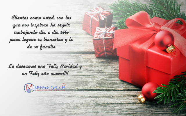 feliz navidad, menaje galicia
