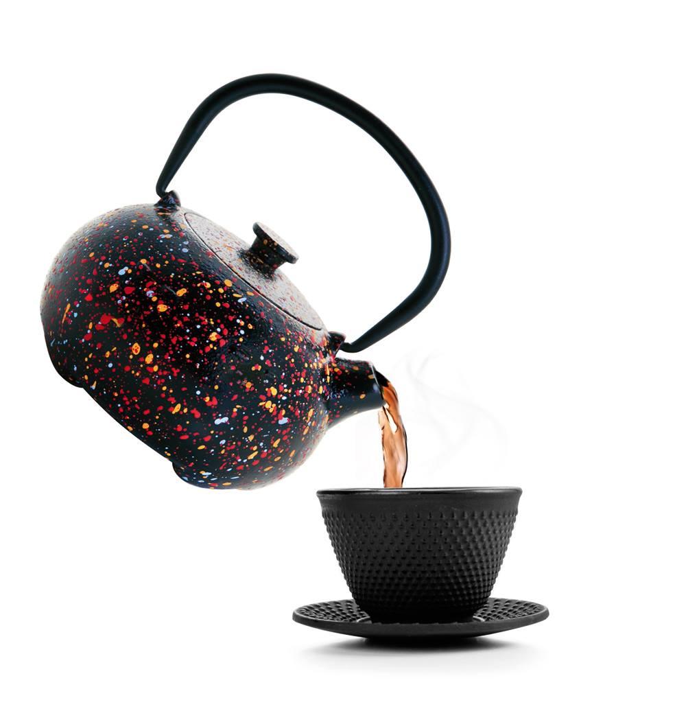 tetera,hierro fundido, té